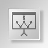 3D business strategy icon Business Concept. 3D Symbol Gray Square business strategy icon Business Concept Royalty Free Stock Photo