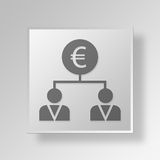 3D business strategy icon Business Concept. 3D Symbol Gray Square business strategy icon Business Concept Stock Image
