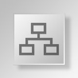 3D business strategy icon Business Concept. 3D Symbol Gray Square business strategy icon Business Concept Royalty Free Stock Images