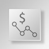 3D business strategy icon Business Concept Royalty Free Stock Photography