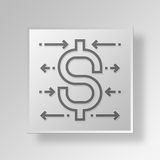 3D business strategy icon Business Concept Royalty Free Stock Photos