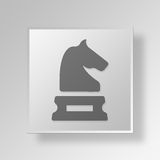 3D business strategy icon Business Concept. 3D Symbol Gray Square business strategy icon Business Concept Royalty Free Stock Photography