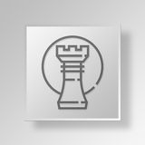 3D business strategy icon Business Concept. 3D Symbol Gray Square business strategy icon Business Concept Royalty Free Stock Photos