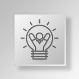 3D business strategy icon Business Concept. 3D Symbol Gray Square business strategy icon Business Concept Royalty Free Stock Image
