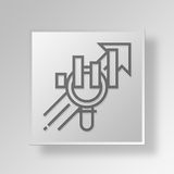 3D business strategy icon Business Concept Royalty Free Stock Image