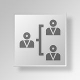 3D business strategy icon Business Concept. 3D Symbol Gray Square business strategy icon Business Concept Stock Photography