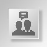 3D business talk icon Business Concept. 3D Symbol Gray Square business talk icon Business Concept Royalty Free Stock Photography
