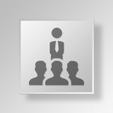 3D business team icon Business Concept. 3D Symbol Gray Square business team icon Business Concept Royalty Free Stock Image