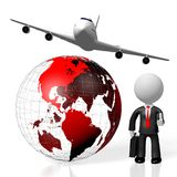 3D business travel concept Royalty Free Stock Photography