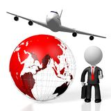 3D business travel concept Stock Photos