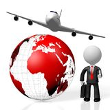 3D business travel concept Stock Images
