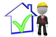 3D businessman/architekt - domowy pojęcie ilustracji