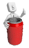 3d Businessman beverage can. 3D Square Man Series. Stock Photos