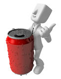 3d Businessman beverage can. 3D Square Man Series. Stock Photography
