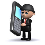 3d Businessman chatting on a cellphone Stock Photography