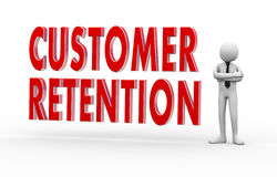 3d businessman customer retention Royalty Free Stock Photo
