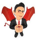 3D Businessman devil. 3d business people illustration. Businessman devil. White background Royalty Free Stock Image