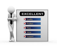 3d businessman - excellent product illustration Stock Image
