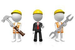 3D businessman/firmy budowlanej pojęcie ilustracja wektor