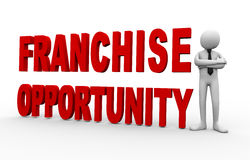 3d businessman franchise opportunity Royalty Free Stock Image