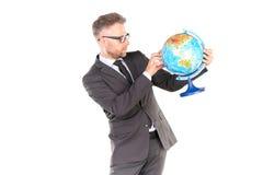 3d businessman globe puzzle Στοκ εικόνα με δικαίωμα ελεύθερης χρήσης