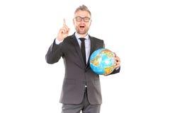 3d businessman globe puzzle Στοκ φωτογραφίες με δικαίωμα ελεύθερης χρήσης