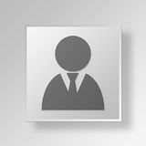 3D Businessman icon Business Concept Royalty Free Stock Image