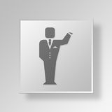 3D Businessman icon Business Concept Stock Photography