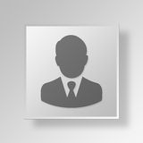 3D Businessman icon Business Concept Royalty Free Stock Photo