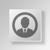 3D Businessman icon Business Concept Royalty Free Stock Photography
