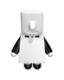 3d businessman People admire advertising. 3D Square Man Series. Royalty Free Stock Photos