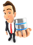 3d businessman server icon Stock Photography