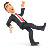 3d businessman slipping and falling Royalty Free Stock Photo