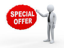 3d businessman special offer Stock Image