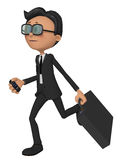 3d businessman in stress Stock Images