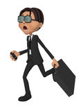 3d businessman in stress Stock Photo