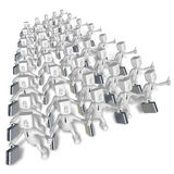 3d businessman team on white background. 3D Square Man Series. Stock Image