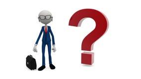 3D businessman in tie stock video