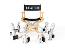 3d Businessmans Around Director Leader Chair. On a white background stock illustration