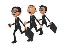 3d businessmen competition. Isolated on the white background Stock Photos