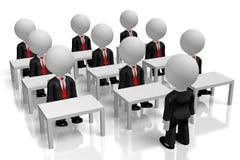 3D businessmen - meeting/ training concept vector illustration