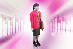 3d businesswoman Stock Images