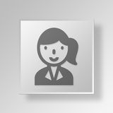3D businesswomen icon Business Concept Stock Photos