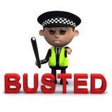 3d Busted door de wet Royalty-vrije Stock Afbeelding