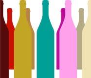 3d butelki modelują biały wino royalty ilustracja