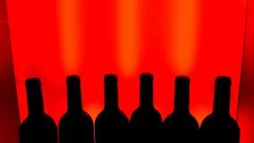 3d butelki modelują biały wino Fotografia Stock