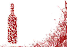 3d butelki wysokiego ilustracyjnego wizerunku czerwony postanowienia wino Zdjęcia Stock