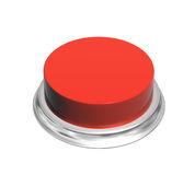 3d button of red color. Button of red color. Object isolated on white background. 3d render Royalty Free Stock Photography