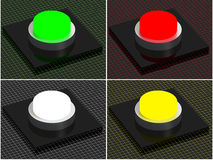3D Button set, web graphic Royalty Free Stock Image
