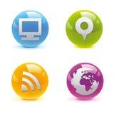 3D Buttons Set Stock Photo